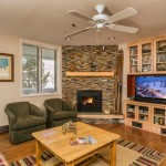 The Terraces N13 - Cozy living area with gas log fireplace